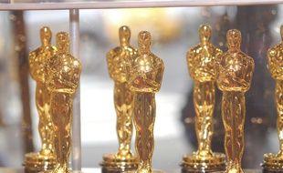 Les statuettes de la 90e édition de la cérémonie des Oscars.