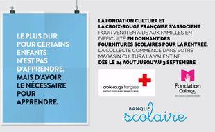 La campagne de publicité pour la banque scolaire.
