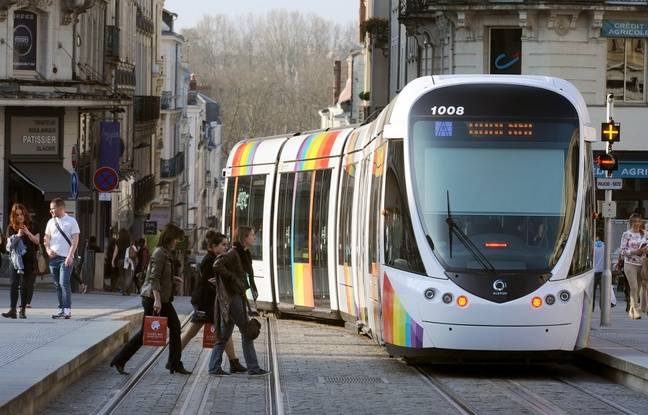 Le tramway d'Angers (illustration).