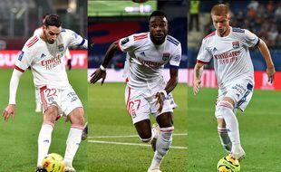 Mattia De Sciglio, Maxwel Cornet et Melvin Bard, trois options pour un poste de latéral gauche qui pose souvent question à Lyon cette saison.