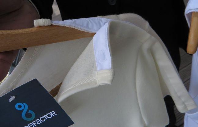 Un tee-shirt aimanté, en pure laine mérinos, qu'on peut enfiler sans lever les bras.