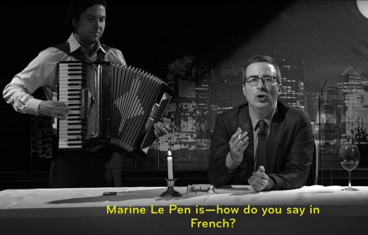 John Oliver appelle les Français à aller voter pour faire barrage au FN – Capture Youtube