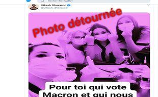 Ces aides-soignantes n'ont pas adressé un doigt d'honneur aux électeurs d'Emmanuel Macron.