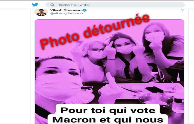 Coronavirus : Non, ces aides-soignantes n'ont pas adressé un doigt d'honneur aux électeurs d'Emmanuel Macron