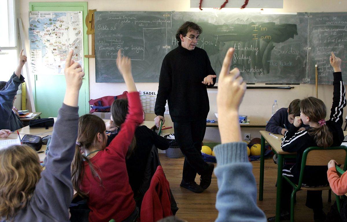 Illustration d'un professeur d'anglais  – DERRICK CEYRAC / AFP