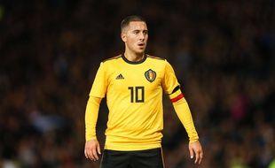 Eden Hazard lors du match entre la Belgique et l'Ecosse, à Glasgow, le 7 septembre 2018.