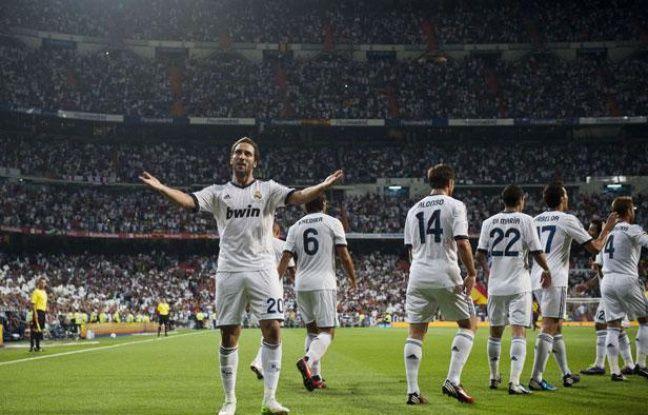 Gonzalo Higuain, buteur face à Barcelone, mercredi 29 août au stade Santiago Bernabeu.