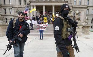 Des manifestants anti-confinement dans le Michigan, le 15 avril 2020.