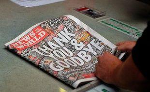 La dernière édition du tabloïd britannique News of the World, parue le 10 juillet 2011.