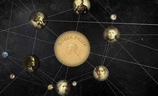 Une représentation du «knowledge graph», le «graphe du savoir» de Google.