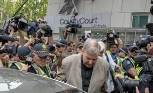 George Pell à la sortie de son procès à Melbourne, le 26 février 2019.
