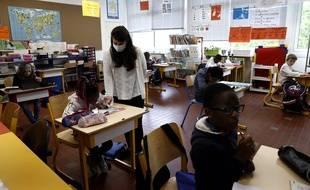 A Poissy, dans une école élémentaire le 5 mai 2020.