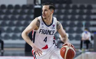 Thomas Heurtel, ici lundi avec l'équipe de France lors du dernier match de qualification pour l'Euro 2022 contre la Grande-Bretagne.