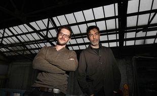 Les urbanistes lillois Sébastien Plihon (G) et Laurent Thiollet.