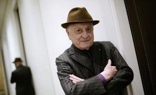Pierre Bergé dans son bureau à Paris le 11 février 2015