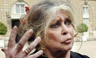 Photo prise le 27 septembre 2007 au Palais de l'Elysée de l'ancienne actrice Brigitte Bardot