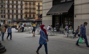 La vie reprend petit à petit son cours en Espagne après un confinement strict. Ici à Barcelone