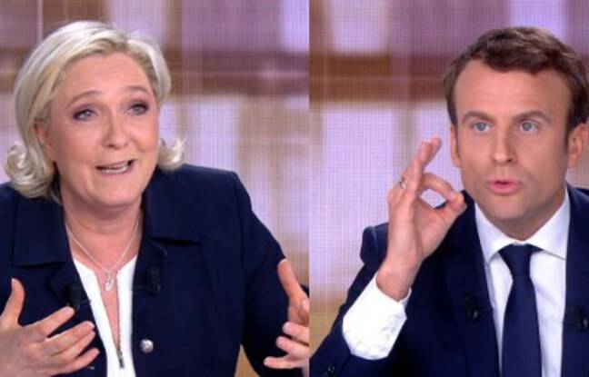 Le débat présidentiel 2017 entre Marine Le Pen et Emmanuel Macron