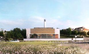 La future chaufferie du centre hospitalier de Bordeaux.