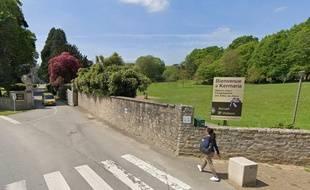 L'entrée de la de la communauté des Filles de Jésus de Kermaria, dans le Morbihan, où deux religieuses sont mortes du coronavirus.