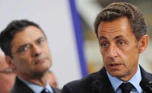 Patrick Devedjian et Nicolas Sarkozy, le 3 septembre 2009.