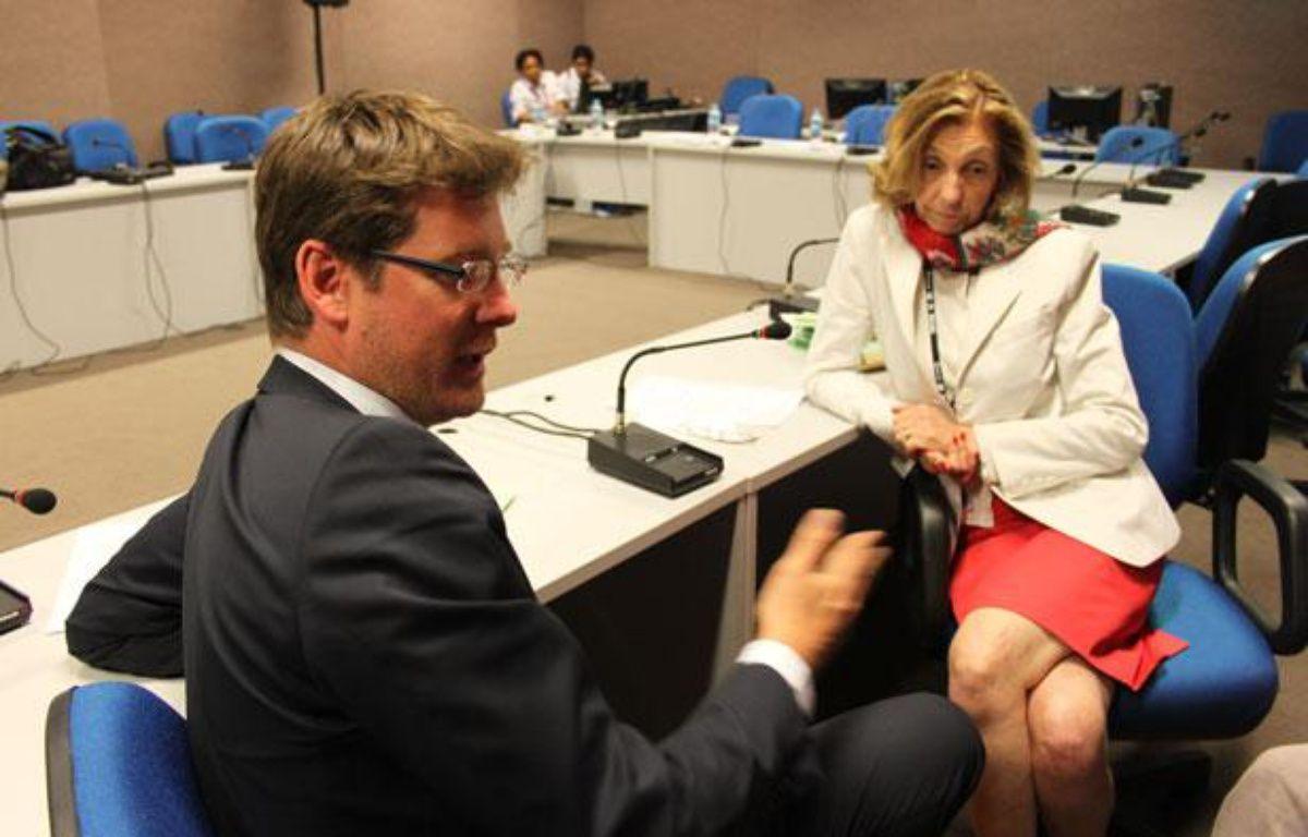 Pascal Canfin, ministre du Développement, et Nicole Bricq, ministre de l'Ecologie, le 19 juin 2012 au sommet Rio+20. – A.Chauvet - 20 Minutes