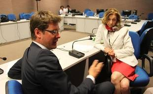 Pascal Canfin, ministre du Développement, et Nicole Bricq, ministre de l'Ecologie, le 19 juin 2012 au sommet Rio+20.