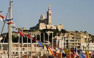 La basilique de Notre-Dame de la Garde à Marseille.