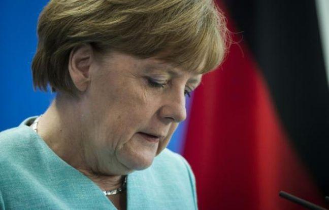La chancelière allemande Angela Merkel , le 30 juin 2015 à Berlin