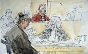 Charlene Cotte (à g.) et Christophe Champenois (à dr.), les parents de Bastien, un enfant de 3 ans mort après avoir été enfermé dans un lave-linge, sont jugés aux assises de Melun jusqu'au 11 septembre 2015.