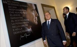 Silvio Berlusconi au siège de son parti à Rome, le 19 septembre 2013.