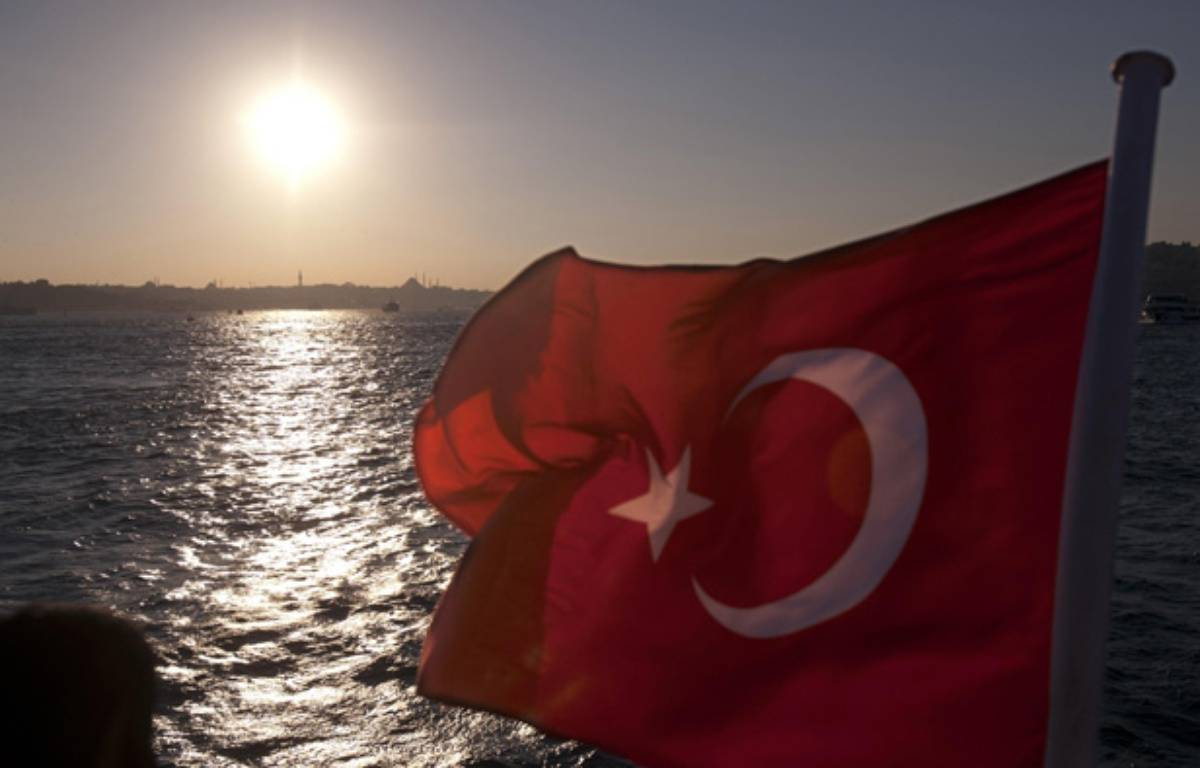 Illustration: Un drapeau turc. –  IPON-BONESS/SIPA