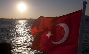 Illustration: Un drapeau turc.