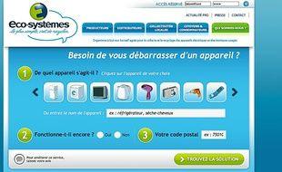 Le site d'Eco-systèmes permet de trouver une solution pour chaque produit.