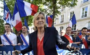 Marine Le Pen à Paris le 20 avril 2018