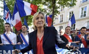 Marine Le Pen à Paris le 20 avril 2018