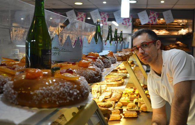 Hervé Astier, maître-boulanger à Montpellier, dans sa boutique.