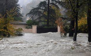 Pont-du-Loup (Alpes-Maritimes), le 23 novembre 2019. Le Loup est sorti de son lit entraînant des inondations dans les Alpes-Maritimes.