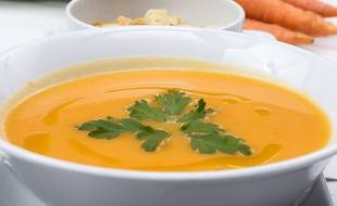 Liebig a rappelé des lots de soupe au potiron. (Illustration)
