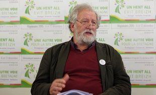René Louail, tête de liste écologiste aux régionales en Bretagne.