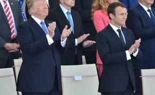 Donald Trump et Emmanuel Macron le 14 juillet