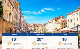 Météo Aix-en-Provence: Prévisions du lundi 7 octobre 2019