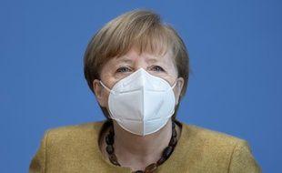 La chancelière Angela Merkel, à Berlin le 21 janvier 2021.