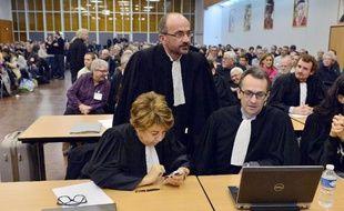 Corine Lepage, avocate des victimes de la tempête Xynthia le 12 décembre 2014 aux Sables-d'Olonne