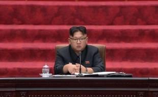 Kim Jong-Un à l'Assemblée suprême du peuple nord-coréenne, le 29 juin 2016.