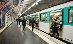 Une rame de métro à Paris. (Illustration)