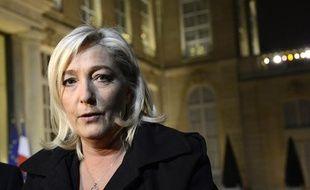 Marine Le Pen devant le Palais de l'Elysée, le 30 novembre 2012.