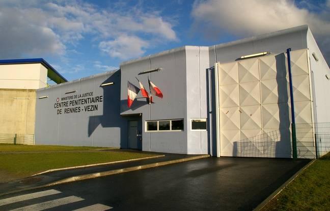 Vue extérieure de la prison des hommes de Rennes-Vezin, inaugurée en 2010.