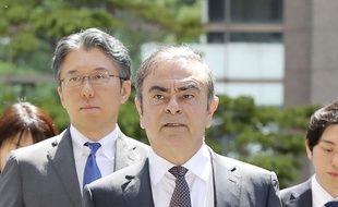 L'ancien patron de Renault et Nissan, Carlos Ghosn pendant son procès le 23 mai 2019.