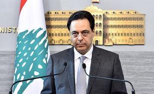 Le Premier ministre libanais, Hassan Diab, à Beyrouth, le 13 juin 2020.